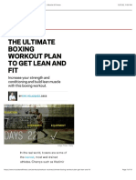 The Ultimate Boxing Workout Plan