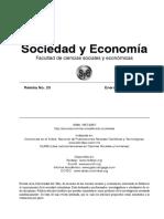 Articulo sociedad y economia