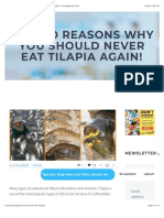 Why You Should NEVER Eat Tilapia Again!