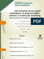 El transporte térmico a través de los granos los límites en policristalino de siliceno.pdf