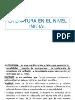 LITERATURA EN EL NIVEL INICIAL III AÑO