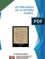 ESTRUCTURA BÁSICA DE LA HISTORIA CLÍNICA