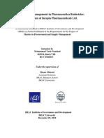 Supply Chain of Incepta Pharmaceuticals Ltd