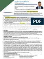 Currículum Vitae  Henry Fernández Mirabal