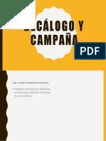 Decálogo y campaña
