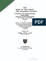 The Book of the Saints of the Ethiopian Church (t. 3) -  E. A. Wallis Budge
