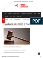5 LANDMARK JUDGEMENTS IN TRADEMARKS LAW