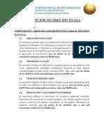 DESCRIPCION DE OBRA EJECUTADA  - VILLA CELESTE