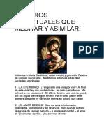 TESOROS ESPIRITUALES QUE MEDITAR Y ASIMILAR