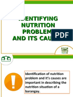 A Identifying Nutrition Prob & its causes
