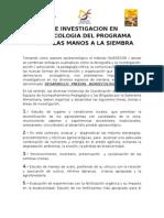 Lineas de Investigacion en Agroecologia Del Programa Todas Las Manos a La Siembra