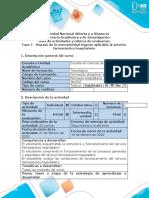 Guia de actividades y rubrica de evaluacion - Fase 1 - Repaso de la normatividad vigente aplicable al servicio farmacéutico hospitalario
