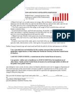 Declaration and Notice of Peaceful Habitation - Sanitized[1]