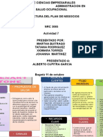 Modelo Canvas Idea de Negocio Actividad 7 Grupo 5