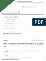 Reliability Management Questions - Vskills Practice Tests.pdf
