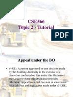 CSE566 Tutorial 2 Tutorial 2 Notes 20200217