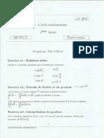 1)Outils Mathematiques (Td)