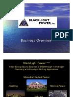 Black Light Power Presentation