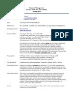 Finance 3040 Syllabus Spring 2020