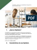 CARACTERISTICAS DE LA HIPOTESIS