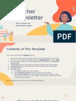 Teacher Newsletter by Slidesgo