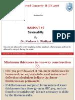 Handout-5 (Serviceability)