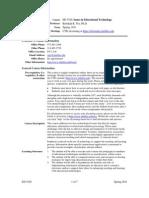UT Dallas Syllabus for ed5320.0i1.11s taught by Rebekah Nix (rnix)