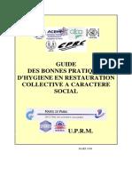 Guide Bonnes Pratiques - Restauration Collective 1999