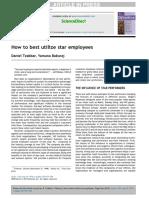Tzabbar, Baburaj - 2019 - How to best utilize star employees