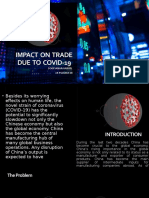 Impact  on  trade due  to  covid-19
