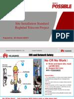 Baghdad Telecom Project Site Installation Standard V2.0.pdf