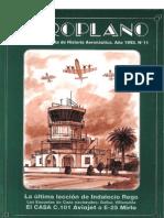 Revista Aeroplano número 11 del año 1993
