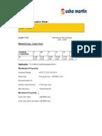 Material Specification Sheet En8D Coils