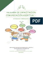 PLAN DE CAPACITACION COMUNICACION ASERTIVA