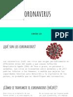 PRESENTACIÓN CORONAVIRUS
