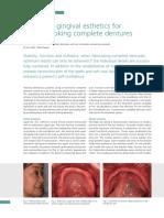 Enhanced gingival esthetics for denture