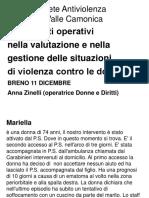 """S""""Strumenti operativi nella valutazione e nella gestione delle situazioni di violenza contro le donne""""enza nome 1"""
