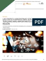 Las fintech argentinas son las terceras más importantes de la región _ Noticia de Negocios _Infotechnology.com