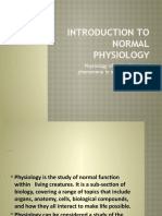 Introduction to normal physiology
