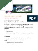 FC 2009 Infopack for Participants