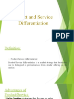 Product & Service Differentiation