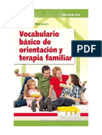 Vocabulario básico de orientación y terapia familiar