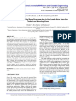 Paper Ultimate Strength of the Buoy Structure due to the Loads Arise from the Tanker and Mooring Lines.pdf