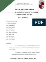 ACUERDO DE ÁREA DE LA LENGUA Y LA COMUNICACIÓN
