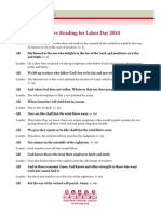Psalm 1 Responsive Reading for Labor Day 2010