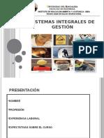 Sistemas integrales de gestión Sesión 01