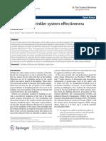 a review of sprinkler system effectiveness studies