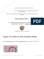 Types of cells in the human body_ Histology