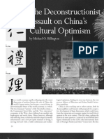 The Deconstructionist Assault on China's Cultural Optimism