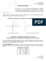 Hoja de Lectura No 4. Funciones Logaritmicas